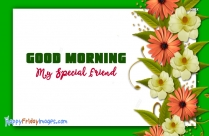 Good Morning To A Special Friend